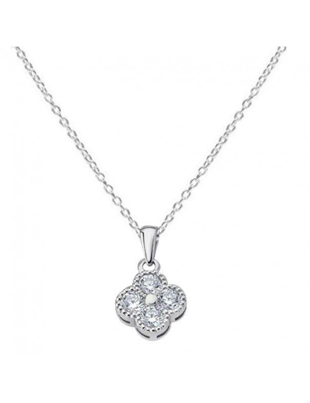 Collar Lotus Silver Plata Mujer LP1612-1/1
