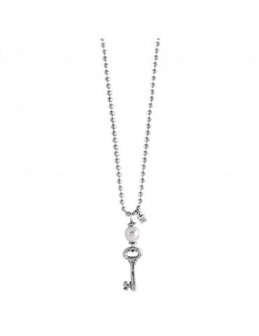 Collar Uno de 50 Metal Mujer LLavestruz COL1123BPLMTL0U