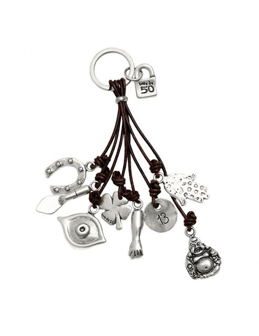 Llavero Uno de 50 Metal Amuleto LLA0124MTX
