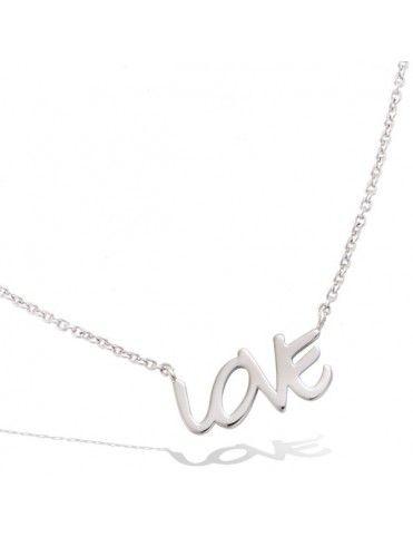 Collar Plata Mujer Love 51EU0770