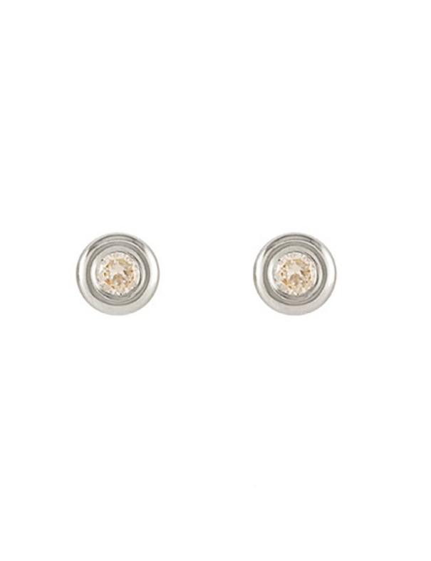 Pendientes Oro Blanco 18Kts Niña 61B1702/6