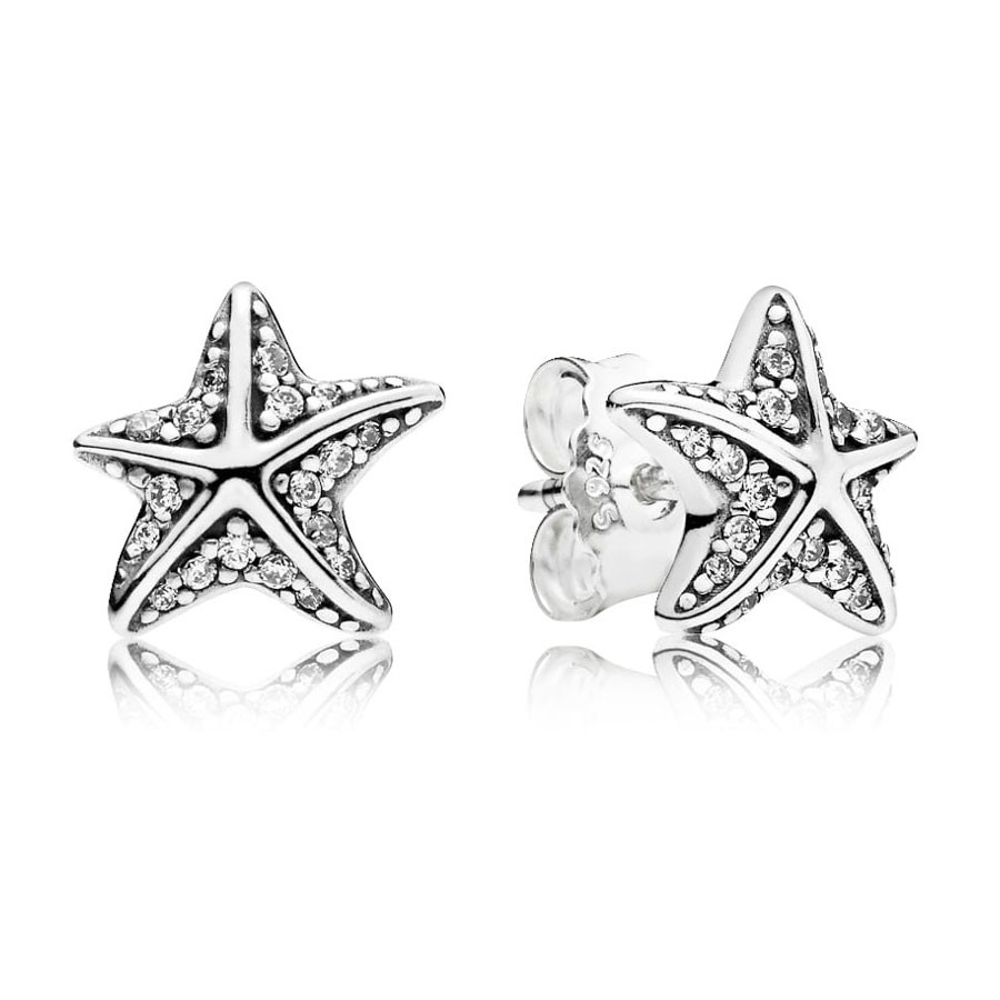 deba010dea98 Pendientes Pandora Plata Estrella de Mar Tropical 290748CZ
