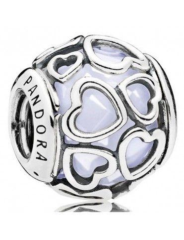 Comprar Charm Pandora Plata Corazones Blanco 792036NOW online