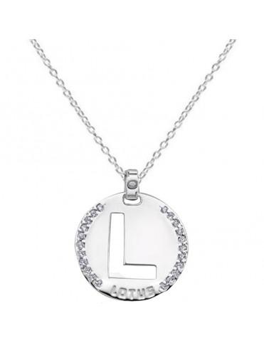 Collar Lotus Silver Plata Mujer LP1597-1/L