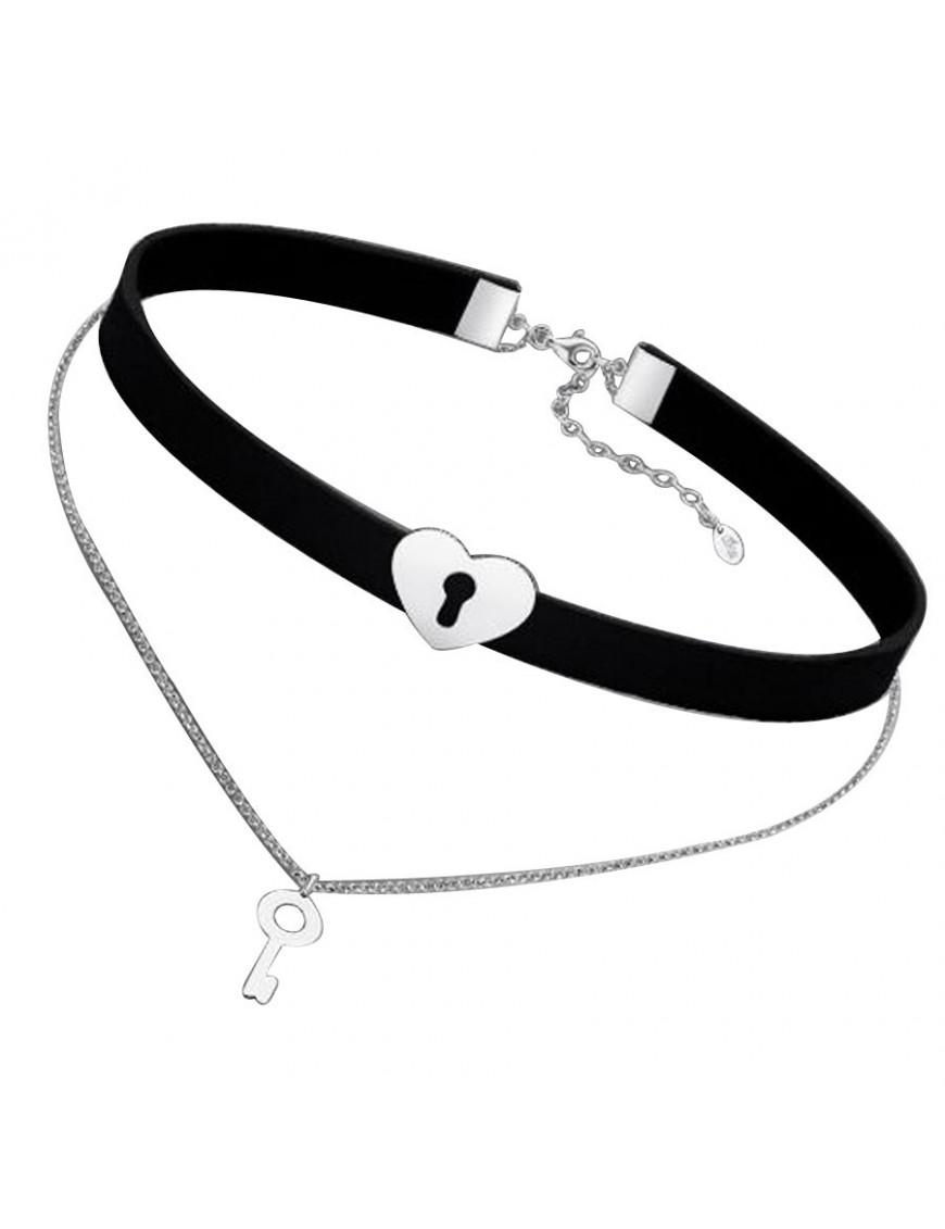 Collar Choker Lotus Silver Plata Mujer LP1675-1/1