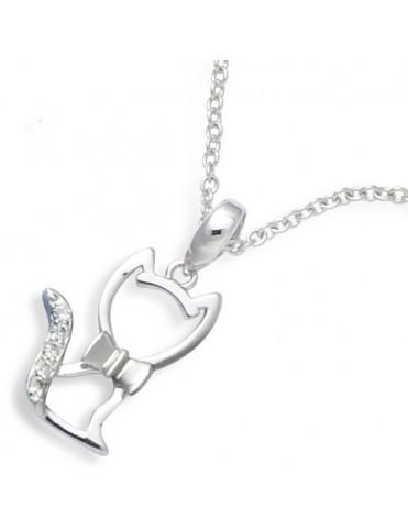 Collar Plata Mujer Gato 61HN097CZ
