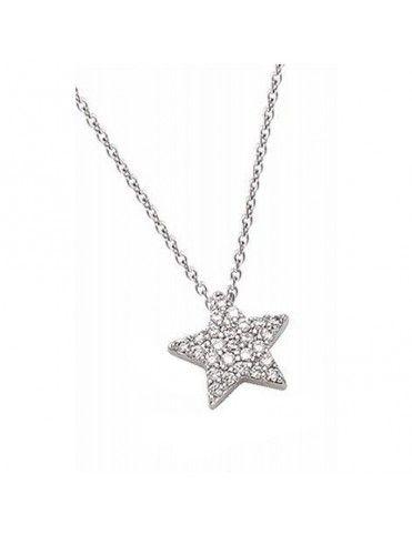 Collar Plata Estrella mujer 51ET043CZ