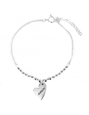 Pulsera plata Mujer Corazón 9092267