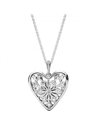 Collar Pandora Plata Corazón 396369CZ-80