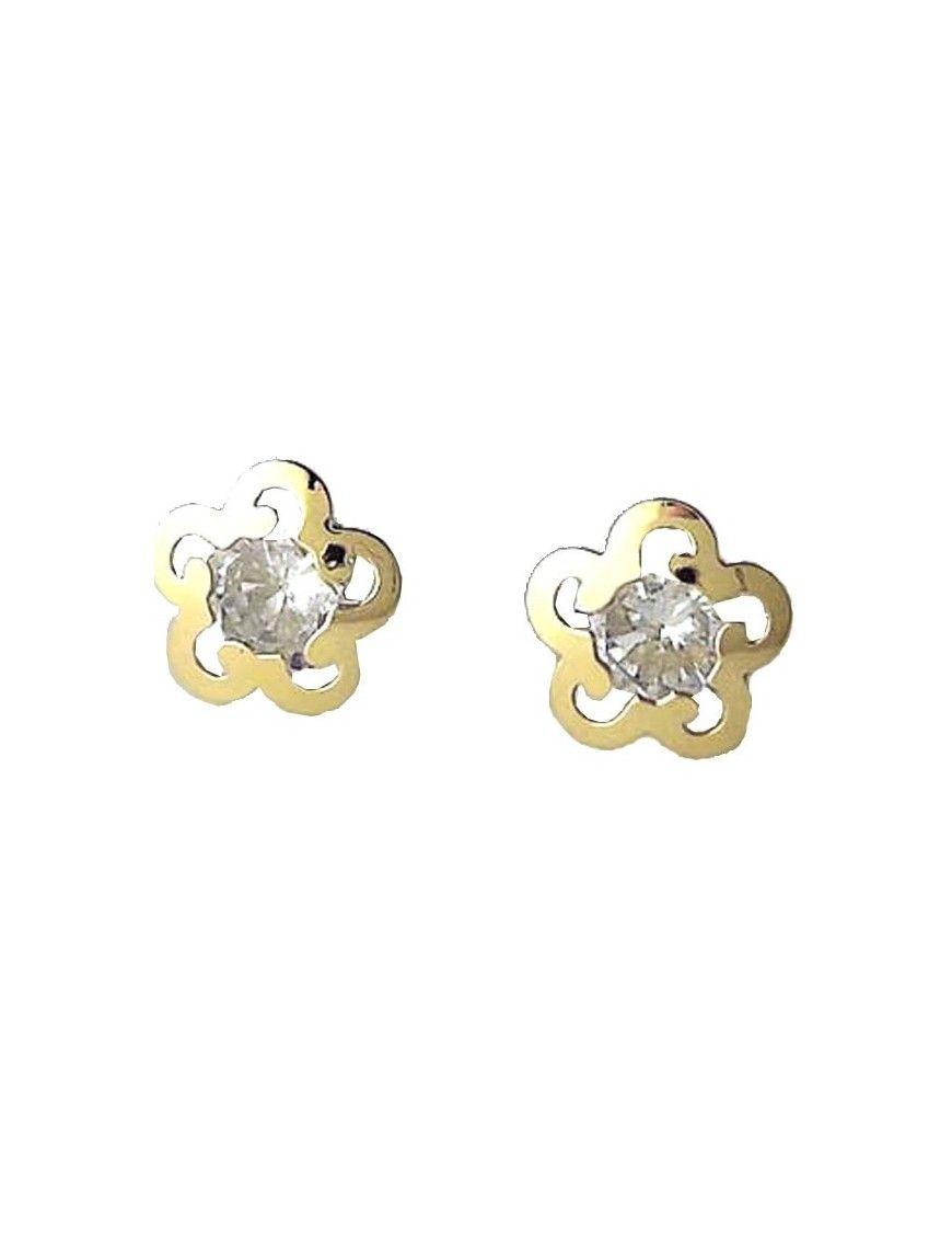 Pendientes Oro 18 Klts. niña flor calada 61A3312