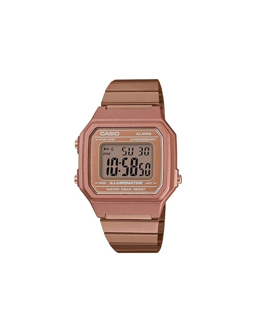 45d725fff36c Reloj Casio hombre mujer B650WC-5AEF. Casio Collection acero rosa.
