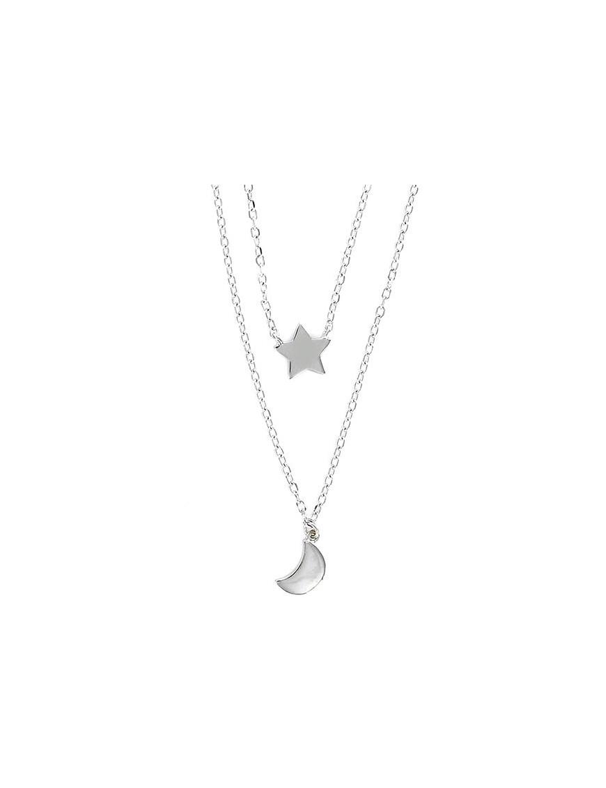Collar Plata Mujer doble cadena 9100183