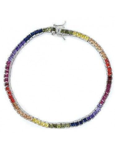 Pulsera Plata Mujer Arco Iris 9090789