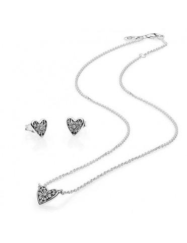 371db0da8240 Set collar y pendientes Pandora B800668 WHS