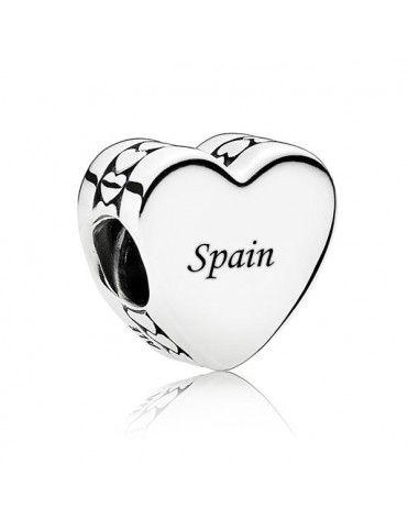 Charm Pandora Plata Corazón España ENG792015-SP