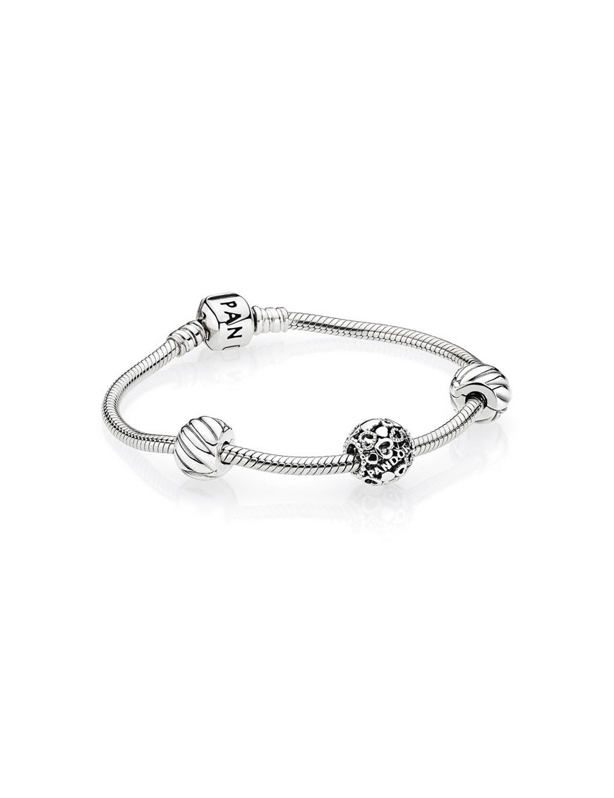 10a368e6778a Pulsera rígida Pandora de plata