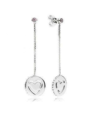 Comprar Pendientes Pandora Plata corazón 296577FPC online