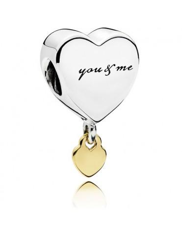 Comprar Charm Pandora Plata Oro Tú & Yo 796558 online