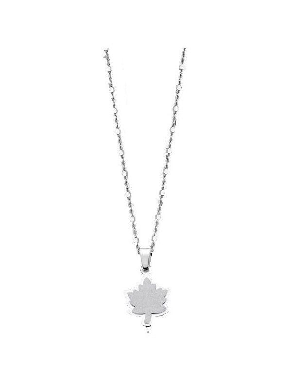 Collar Lotus Silver Mujer LP1743-1/1 Hoja