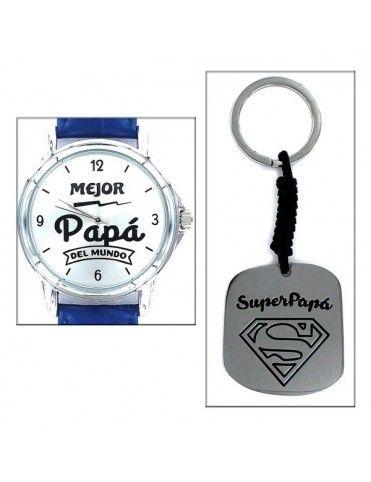 Comprar Estuche Papá Reloj+ llavero SuperPapá 9101905 online