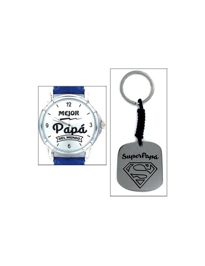 Estuche Papá Reloj+ llavero SuperPapá 9101905