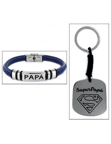 Estuche Papá pulsera+ llavero SuperPapá 9101919