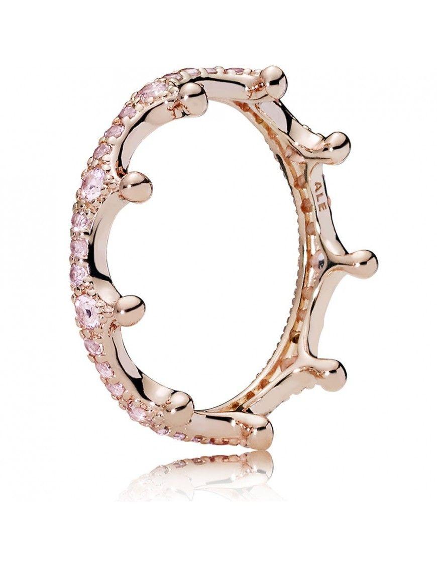 anillo pandora rose circonita