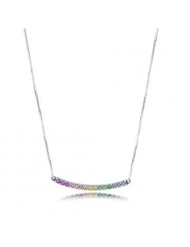Comprar Collar Pandora Plata Arco de Amor Multicolor 397079CFPMX-50 online