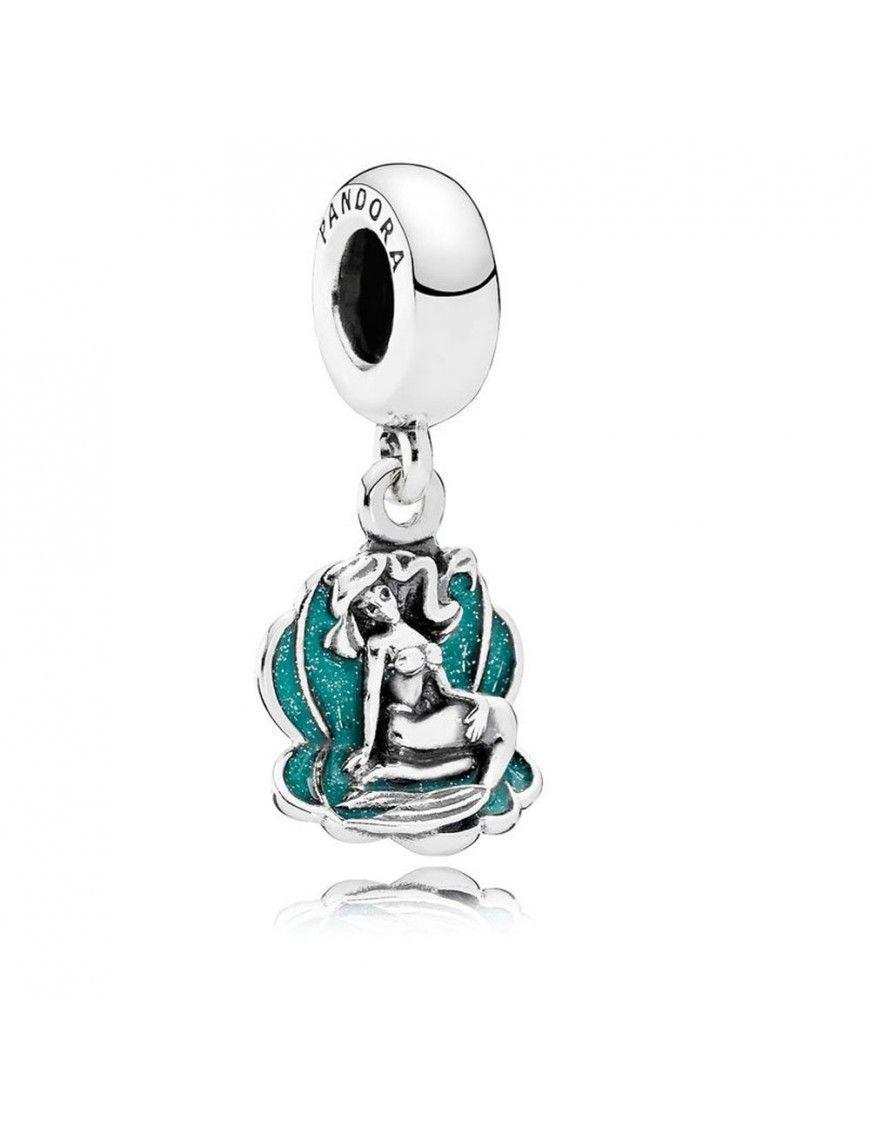 Charm Pandora plata Colgante Concha con Ariel y el Mar 791895EN111