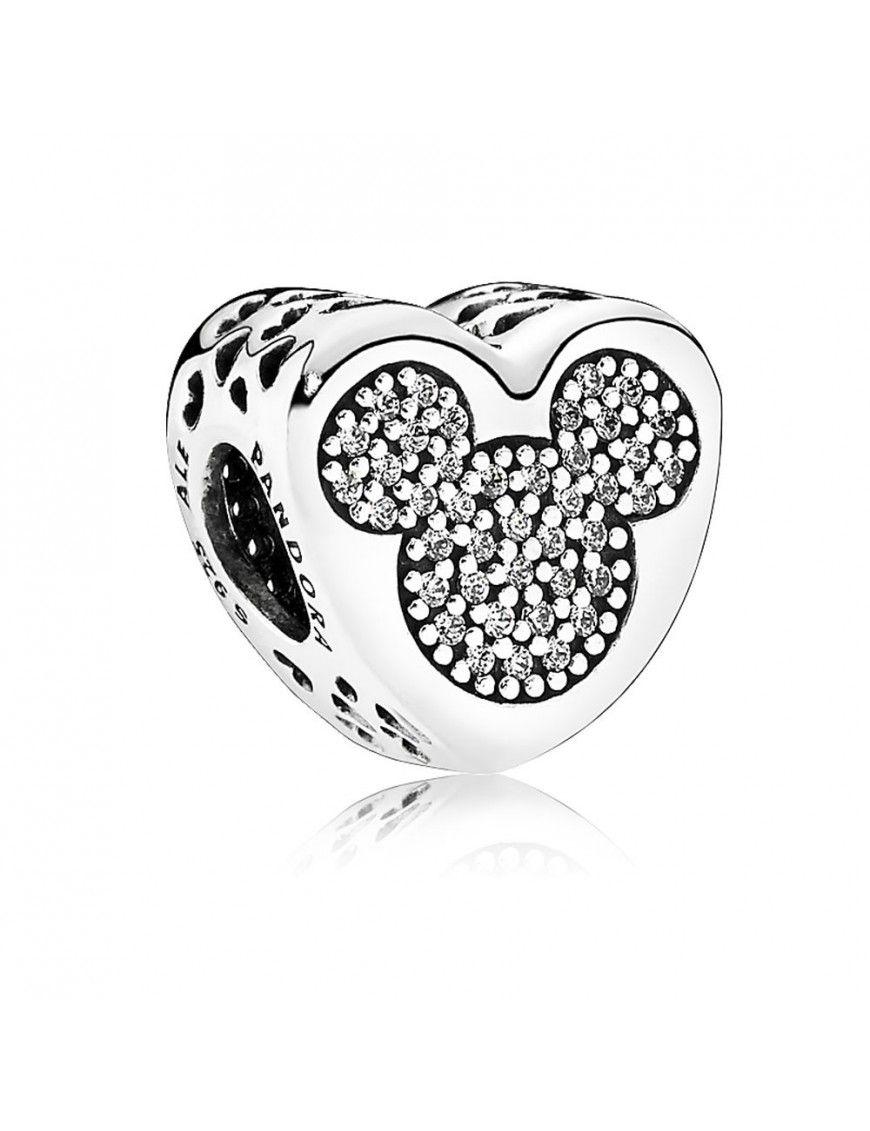 Charm Pandora Plata Amor Verdadero Mickey & Minnie 792050CZ