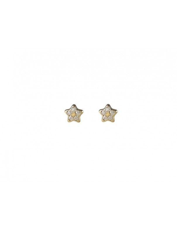 Pendientes Oro 18Kts niña Estrella 41A4211