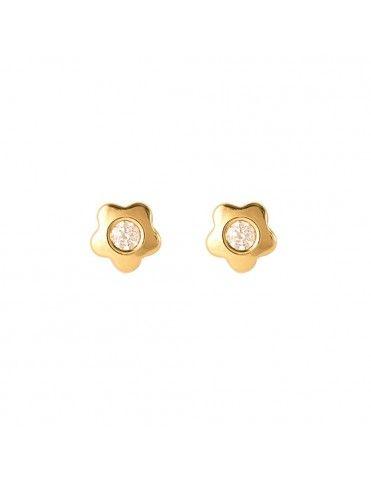 Pendientes Oro Amarillo niña flor 61A1151/1