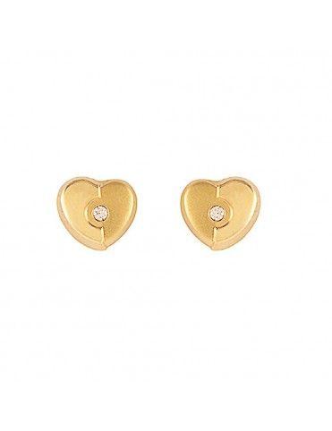 Comprar Pendientes Oro 18 Klts. niña corazón 61A1441/1M online
