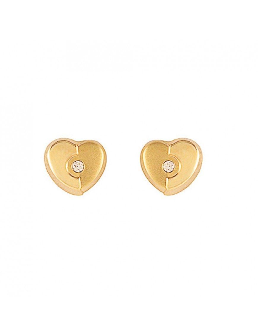 Pendientes Oro 18 Klts. niña corazón 61A1441/1M