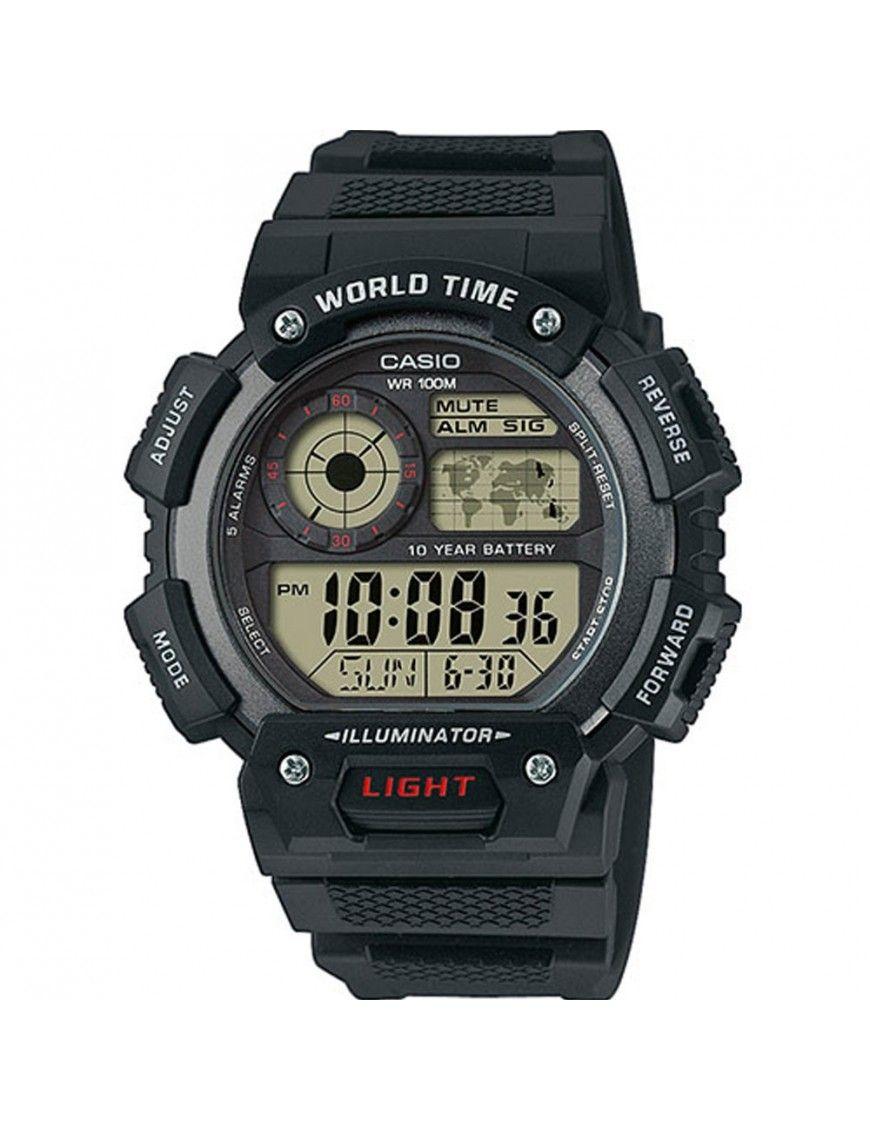 Reloj Casio cronógrafo hombre AE-1400WH-1AVEF