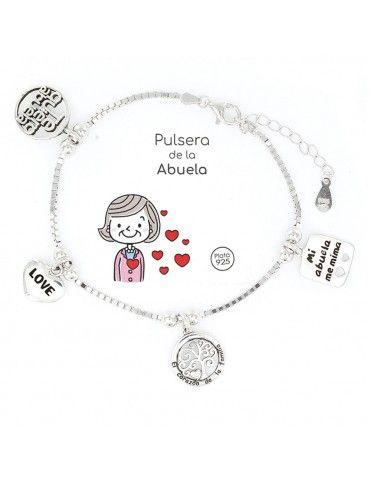 Pulsera Plata Abuela 4 colgantes 9102852