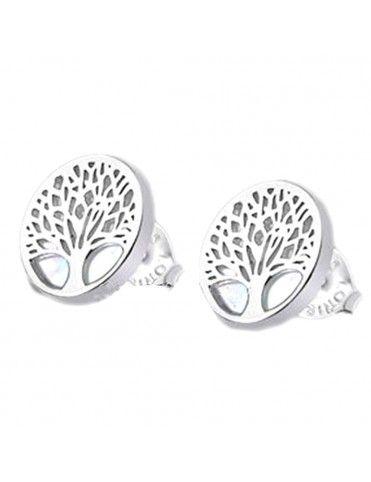 Pendientes Lotus Silver Mujer Plata LP1678-4/1