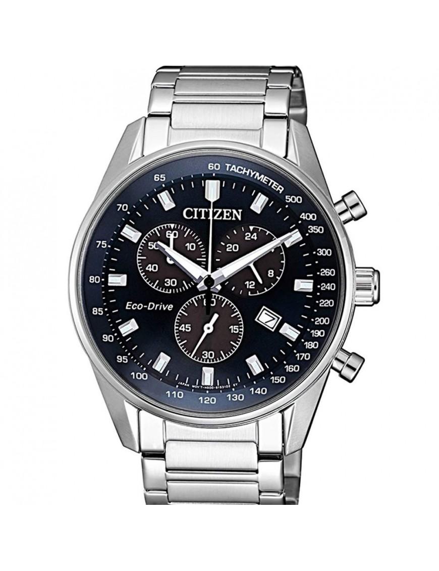 Reloj Citizen Eco Drive Hombre Cron 243 Grafo At2390 82l