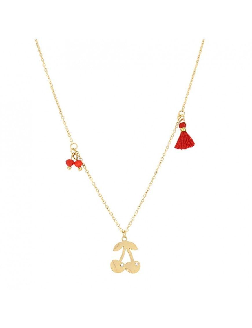 Collar Anartxy Acero Mujer COA476D Cerezas
