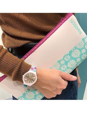 Reloj Swatch Mujer SVOZ100 Skinpivoine+neceser