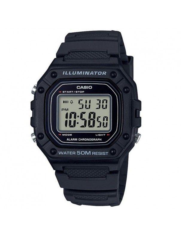 Reloj Casio Unisex Cronógrafo W-218H-1AVEF