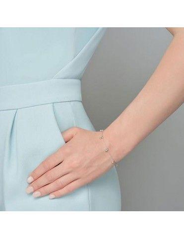 Pulsera Plata Mujer Chatones con circonitas colgantes FZ204K-1