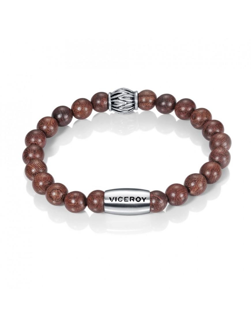 Pulsera Viceroy acero bolas de madera 90052P09011