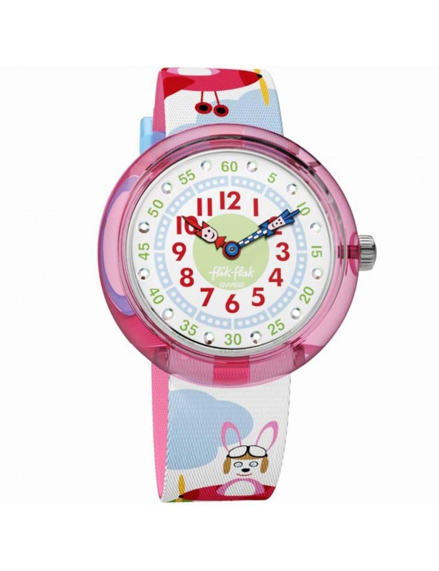 Reloj Flik Flak HOPP ON A PLANE FBNP104