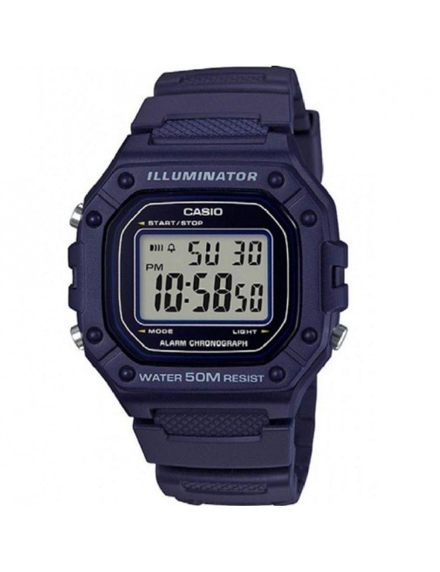Reloj Casio Unisex Cronógrafo W-218H-2AVEF