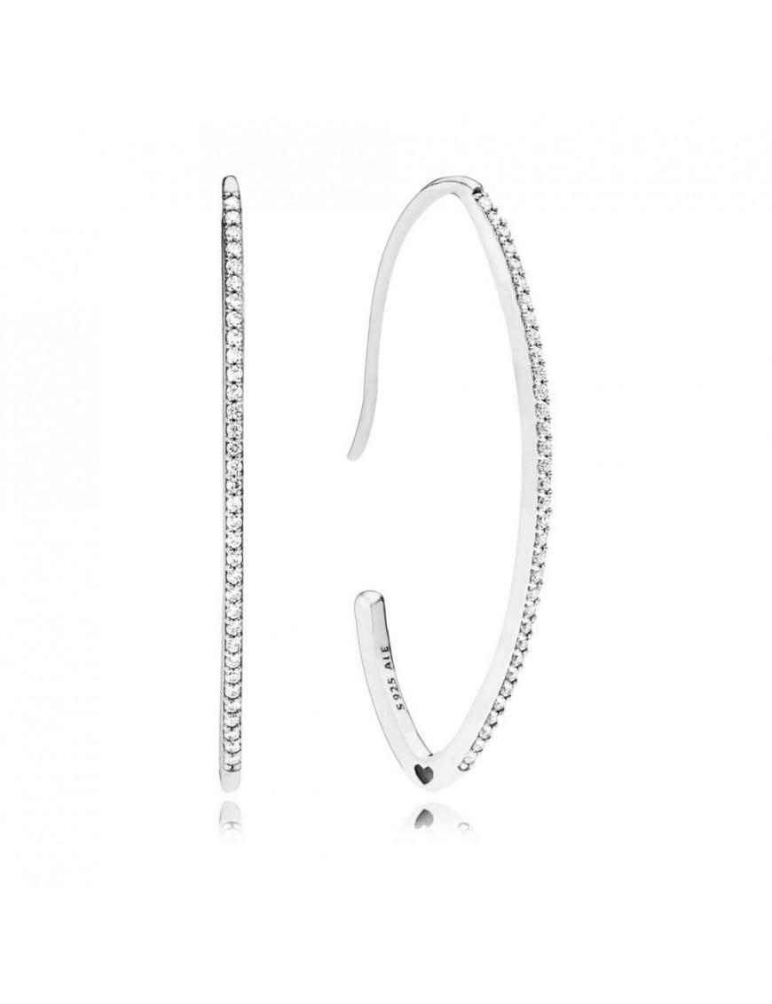 Pendientes Pandora plata Brillo Ovalado 297691CZ