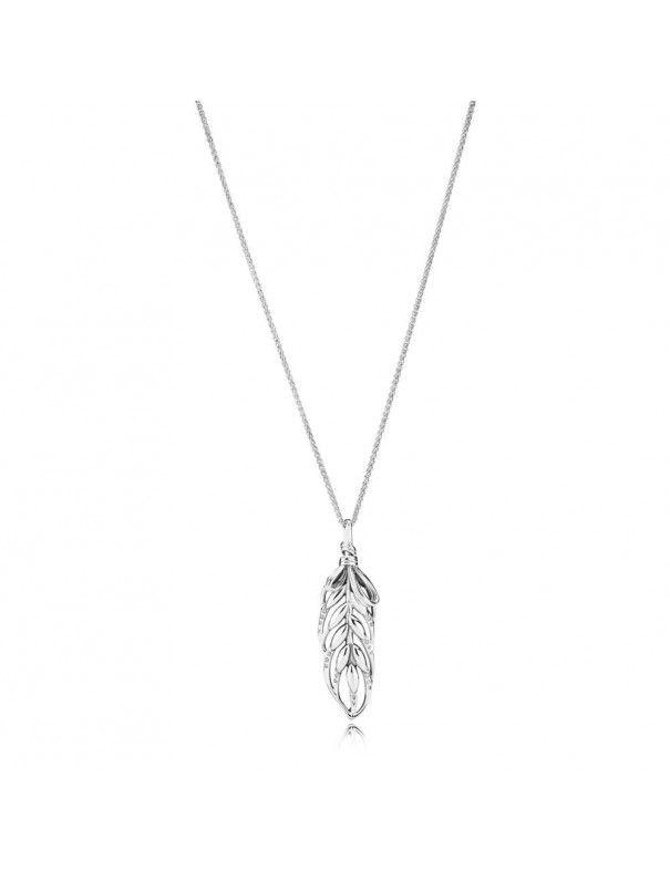 Collar Pandora plata Espigas Colgantes 397753CZ-70