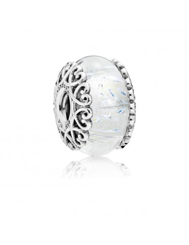 Comprar Charm Pandora Plata Murano Blanco Irisdiscente 797617 online