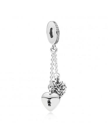 Comprar Charm Pandora plata Colgante Candado y Corazón 797642CZ online