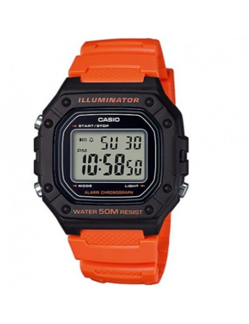 Reloj Casio Unisex Cronógrafo W-218H-4B2VEF